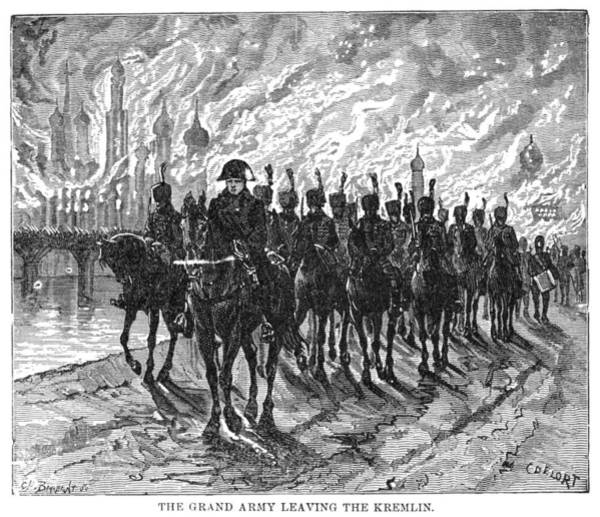 Wall Art - Painting - Burning Of Moscow, C1894 by Granger