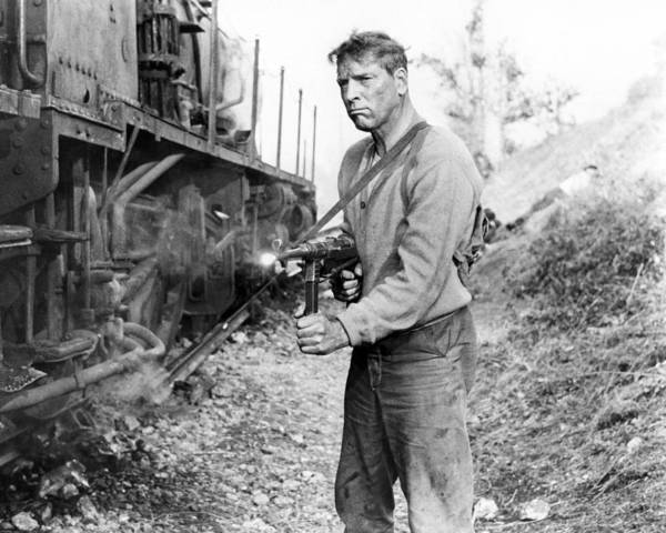 Lancaster Photograph - Burt Lancaster In The Train  by Silver Screen