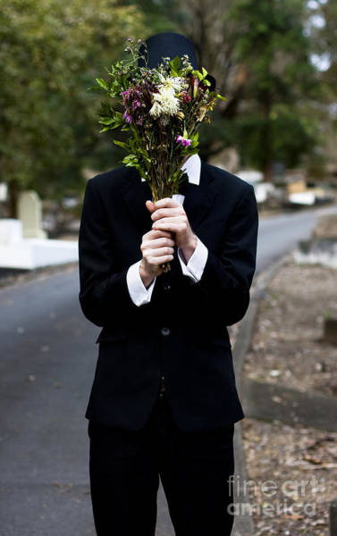 Coverts Photograph - Burying Face In Funeral Flowers by Jorgo Photography - Wall Art Gallery