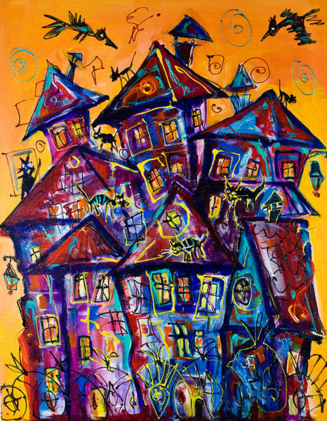 Painting - Busy House by Maxim Komissarchik