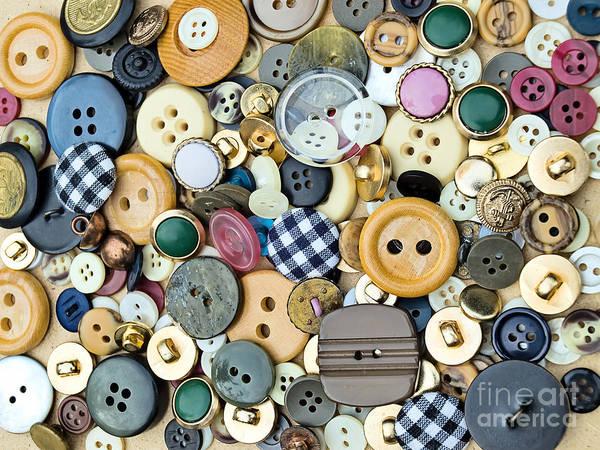 Wall Art - Photograph - Buttons by Sinisa Botas