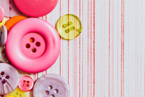 Colorful Photograph - Buttons by Tom Gowanlock