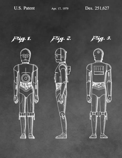 Star Wars Wall Art - Digital Art - C-3po Patent by Dan Sproul