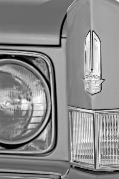 Photograph - Cadillac Headlight Emblem by Jill Reger