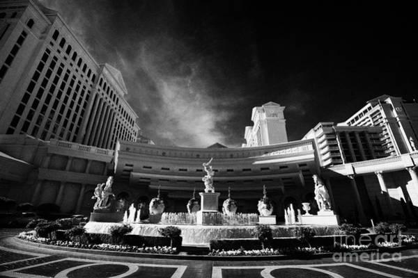 Blvd Photograph - caesars palace luxury hotel and casino Las Vegas Nevada USA by Joe Fox