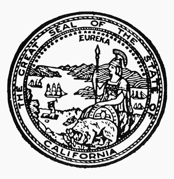 Eureka Painting - California State Seal by Granger