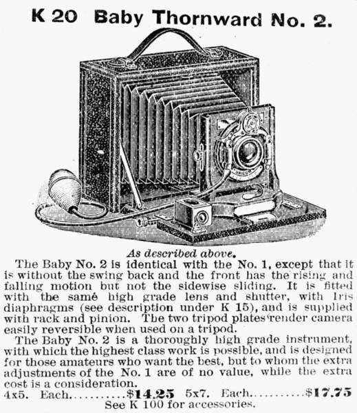Wall Art - Painting - Camera Advertisement, 1900 by Granger
