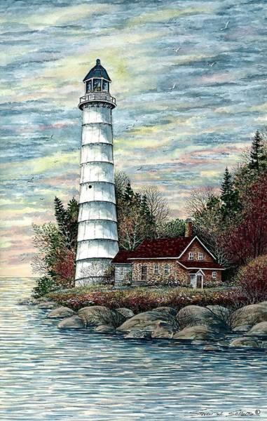 Cana Island Wall Art - Painting - Cana Island Light by Steven Schultz