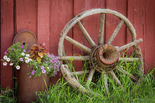 Wagon Wheel Photograph - Canada, British Columbia, Cache Creek by Jaynes Gallery