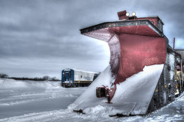 Photograph - Canadian Pacific Snow Plow by Nick Mares