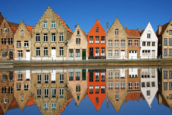 Belgium Photograph - Canal At Bruges by Visions Of Our Land