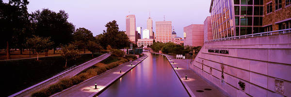 Morning Walk Wall Art - Photograph - Canal In A City, Indianapolis Canal by Panoramic Images
