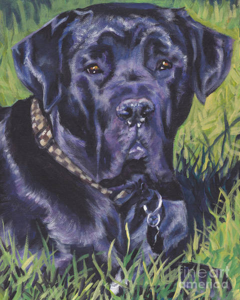 Cane Painting - Cane Corso by Lee Ann Shepard