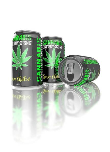 Wall Art - Photograph - Cannabis Energy Drinks Cans by Victor Habbick Visions/science Photo Library