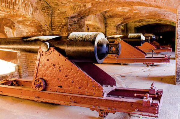 Wall Art - Photograph - Cannon Battery At Historic Fort Sumter by Michael Defreitas