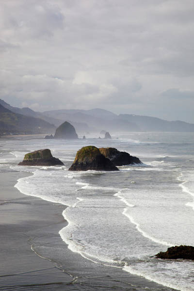 Ecola State Park Photograph - Cannon Beach And Haystack Rock In by Danita Delimont
