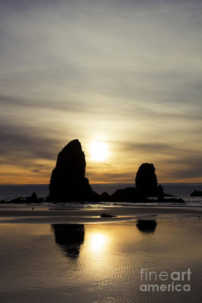 Photograph - Cannon Beach Sunset by Charmian Vistaunet