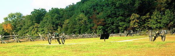 Battle Field Photograph - Cannons At Gettysburg National Military by Panoramic Images