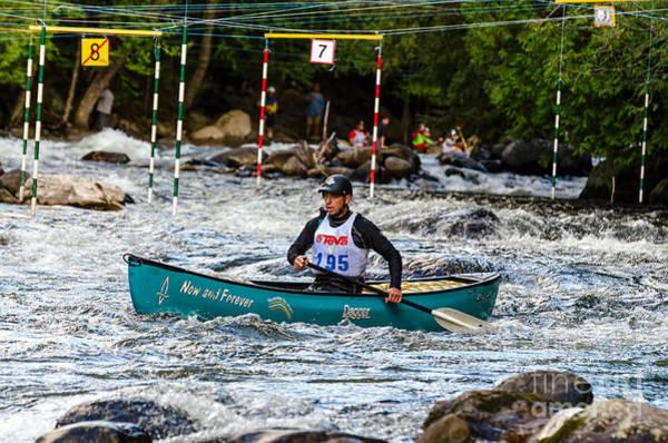 Photograph - Canoe Whitewater Slalom  by Les Palenik