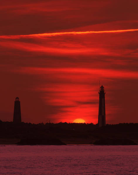 Cape Henry Lighthouses  Art Print