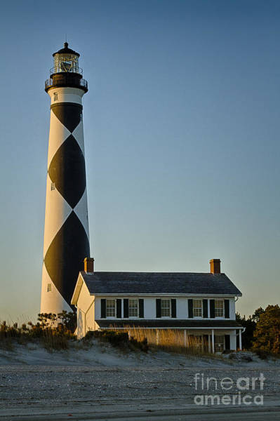 Harker Photograph - Cape Lookout Lighthouse North Carolina by Carrie Cranwill
