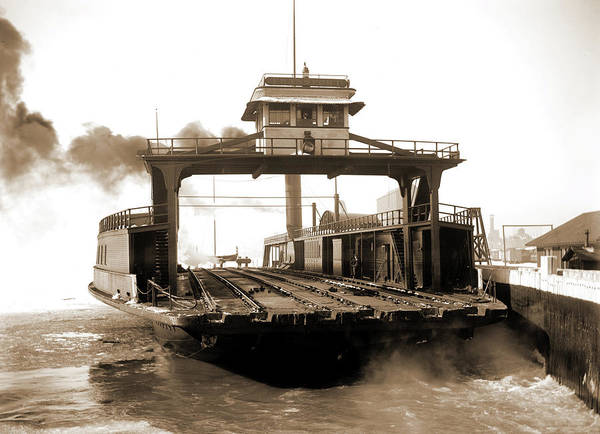 Michigan Drawing - Car Ferry, Transport, Detroit River, Transport Ferry by Litz Collection