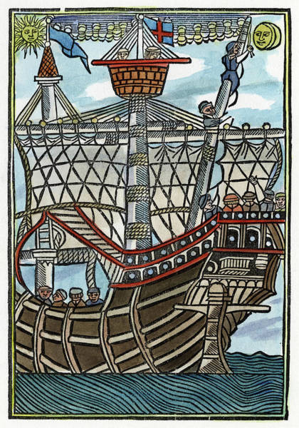 Crows Nest Wall Art - Painting - Caravel, 1502 by Granger