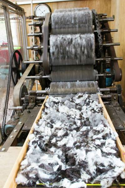 Textile Mill Photograph - Carding Machine In Woollen Mill by David Woodfall Images/science Photo Library