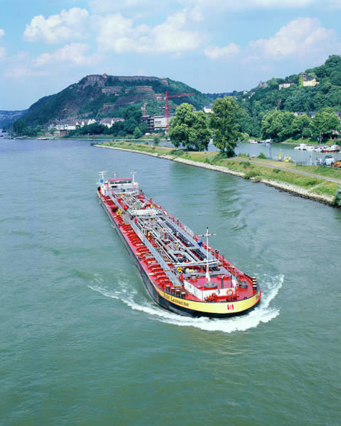 Rhine River Photograph - Cargo Barge by Martin Bond/science Photo Library