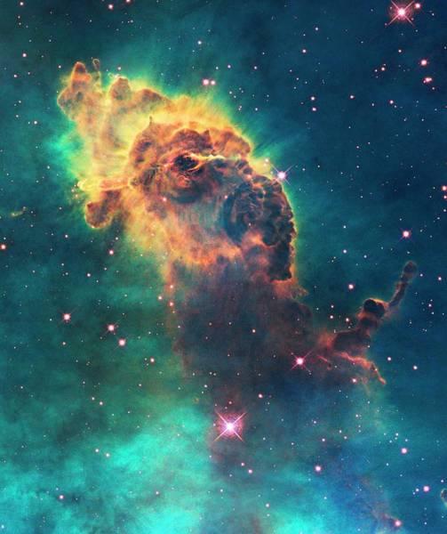Photograph - Carina Nebula Pillar by Nasa/esa/stsci/hubble Sm4 Ero Team/science Photo Library