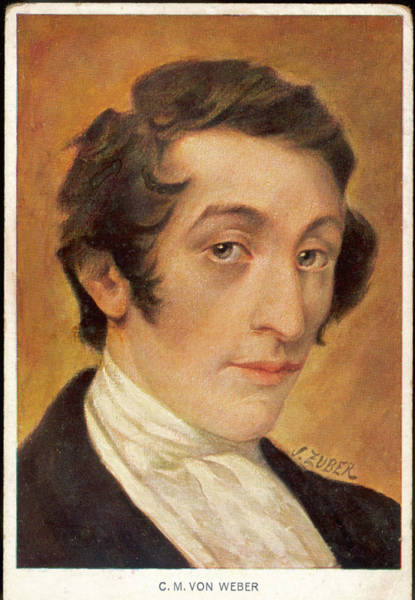Wall Art - Drawing - Carl Maria Von Weber  German Composer by Mary Evans Picture Library
