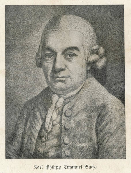 Wall Art - Drawing - Carl Philipp Emanuel Bach  German by Mary Evans Picture Library