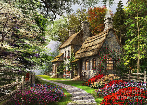Wall Art - Digital Art - Carnation Cottage by Dominic Davison
