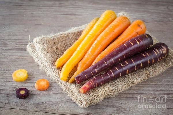 Purple Carrot Photograph - Carrots by Sabino Parente