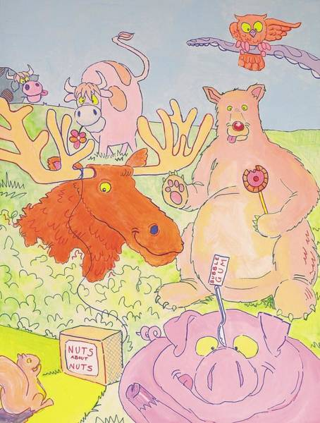 Cartoon Animals Art Print