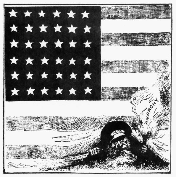 Bolshevik Painting - Cartoon Red Scare, 1919 by Granger