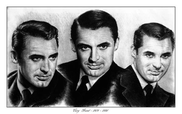 Handsome Drawing - Cary Grant by Andrew Read