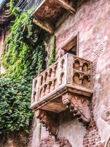 Romeo And Juliet Digital Art - Casa Di Giulietta by Liz Leyden