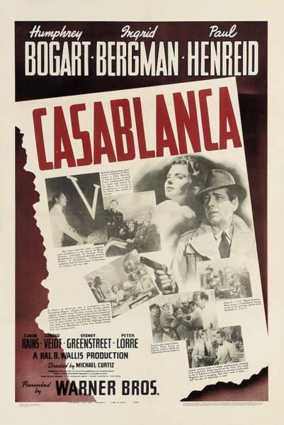 Bogart Digital Art - Casablanca by Georgia Fowler
