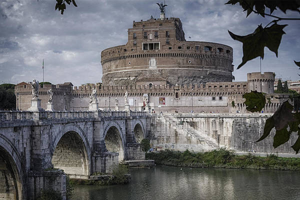 Fortification Photograph - Castel Sant' Angelo by Joan Carroll