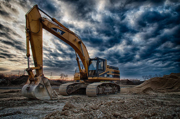 Tractor Photograph - Cat Excavator by Mike Burgquist