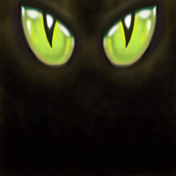 Digital Art - Cat Eyes by Kevin Middleton