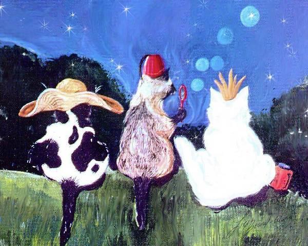 Painting - Cats Night Out by Lizi Beard-Ward