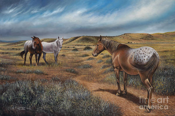 Quarter Horse Painting - Cayuse Country by Ricardo Chavez-Mendez