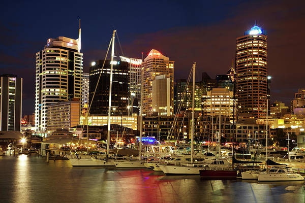 Central Business District Wall Art - Photograph - Cbd And Viaduct Harbour, Auckland by David Wall