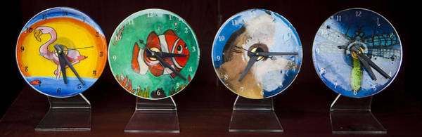 Tapestry - Textile - Cd Clocks For Sale by Fred Hanna