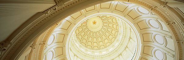 Texas Capitol Photograph - Ceiling Of The Dome Of The Texas State by Panoramic Images