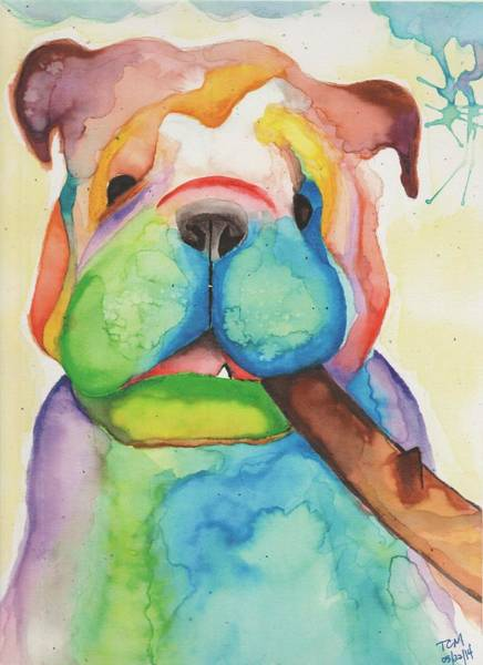 English Bulldog Painting - Celio by Kat Meza
