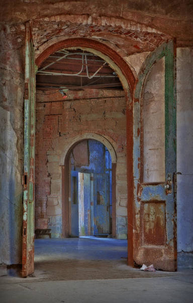Dilapidation Wall Art - Photograph - Cell Block Number 4 by Susan Candelario