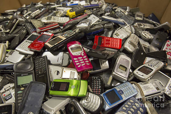 Photograph - Cell Phone Recycling by Jim West